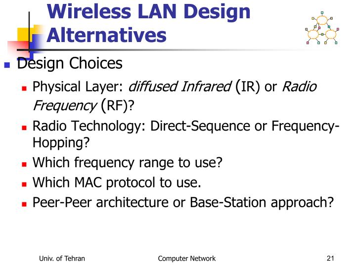 Wireless LAN Design Alternatives