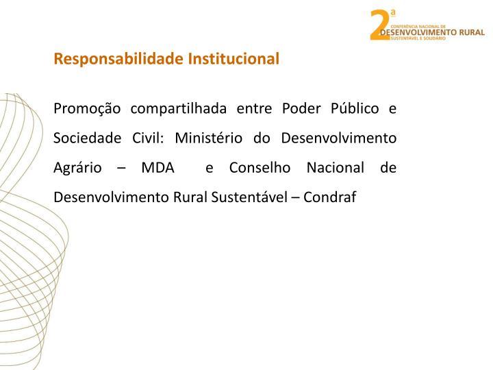 Responsabilidade Institucional