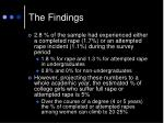 the findings