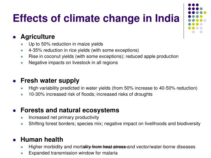 Effects of climate change in India
