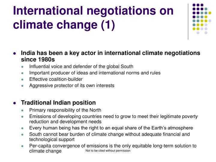 International negotiations on climate change (1)