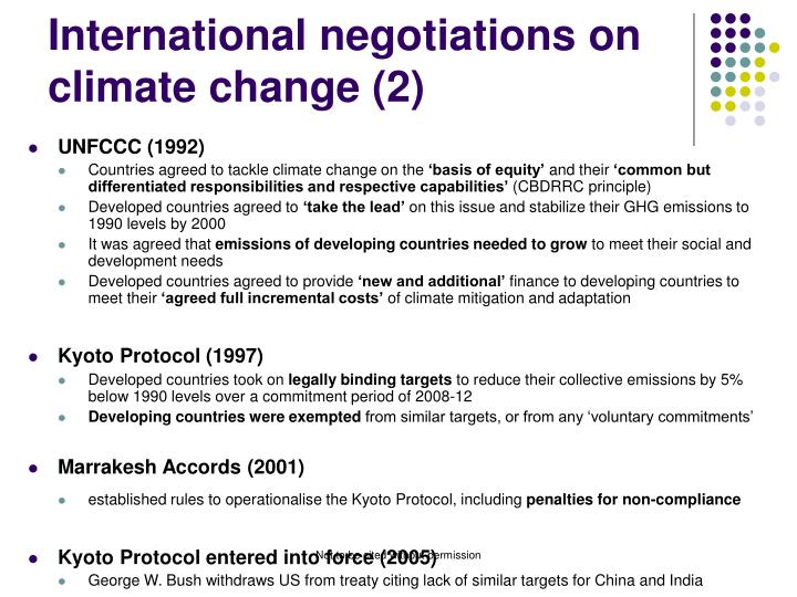 International negotiations on climate change (2)