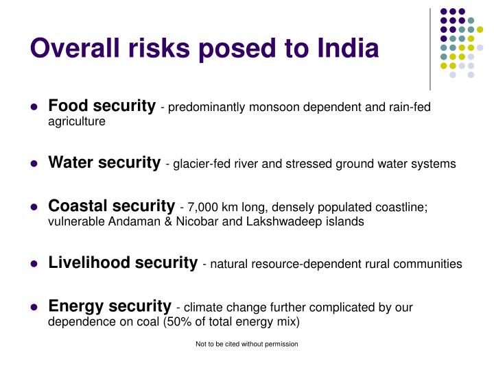 Overall risks posed to India