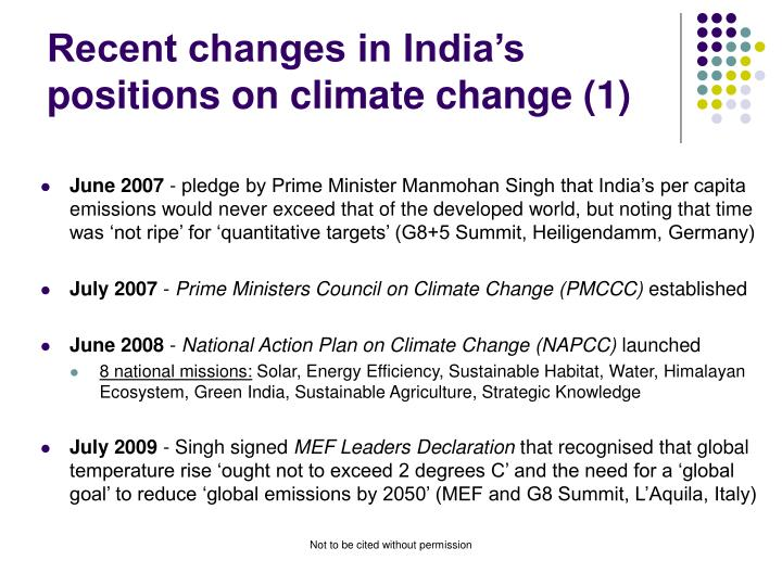 Recent changes in India's positions on climate change (1)