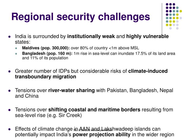 Regional security challenges