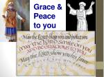 grace peace to you