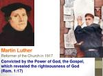 martin luther reformer of the church in 1917