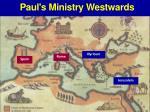 paul s ministry westwards
