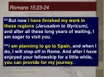 romans 15 23 24