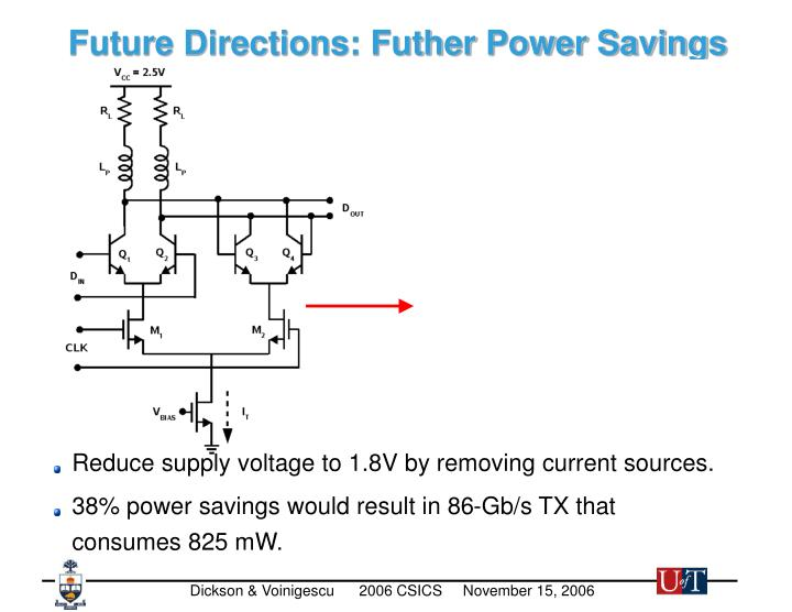 Future Directions: Futher Power Savings
