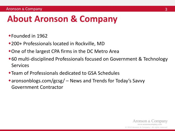 About aronson company