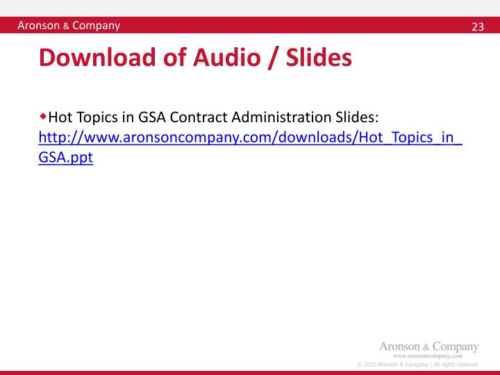 Download of Audio / Slides
