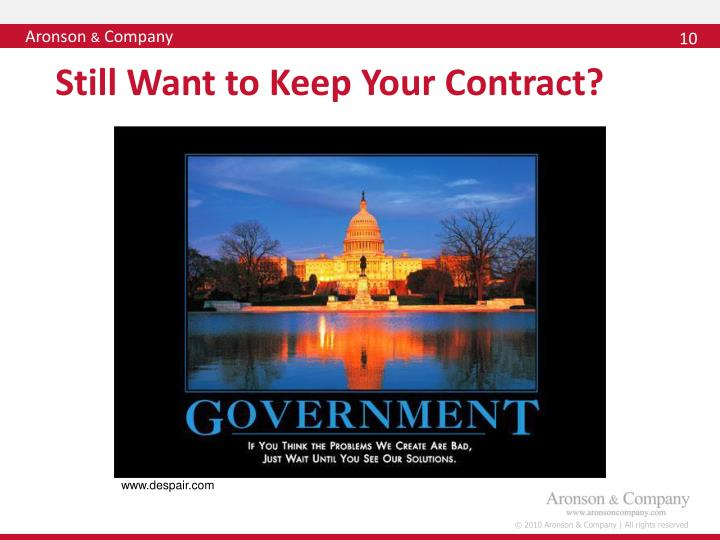 Still Want to Keep Your Contract?