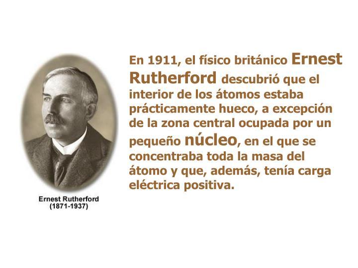 En 1911, el físico británico