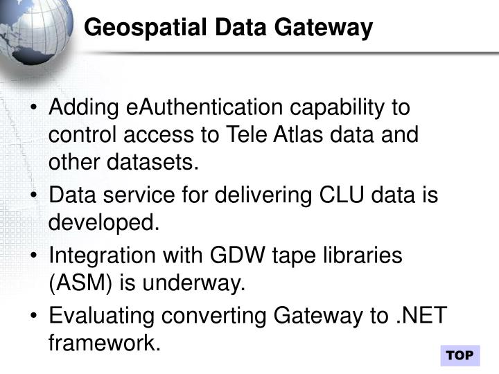 Geospatial Data Gateway