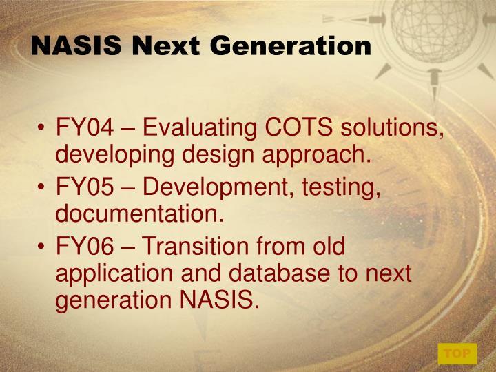 NASIS Next Generation