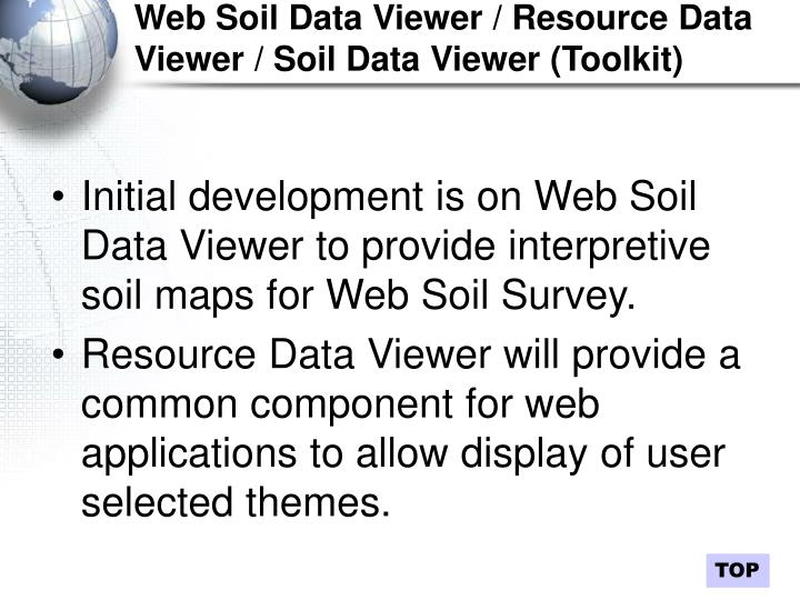 Web Soil Data Viewer / Resource Data Viewer / Soil Data Viewer (Toolkit)