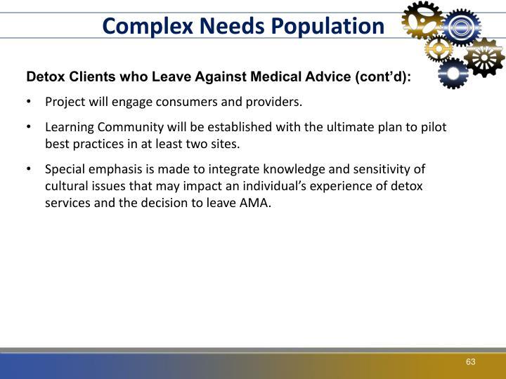 Complex Needs Population