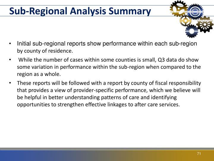 Sub-Regional Analysis Summary