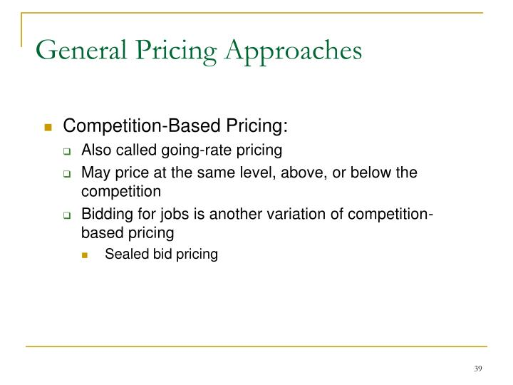 General Pricing Approaches