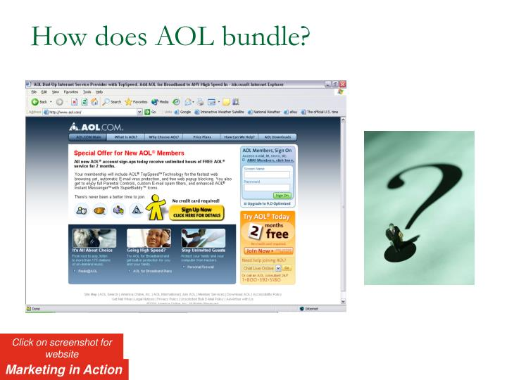 How does AOL bundle?