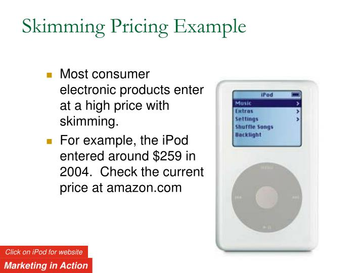 Skimming Pricing Example