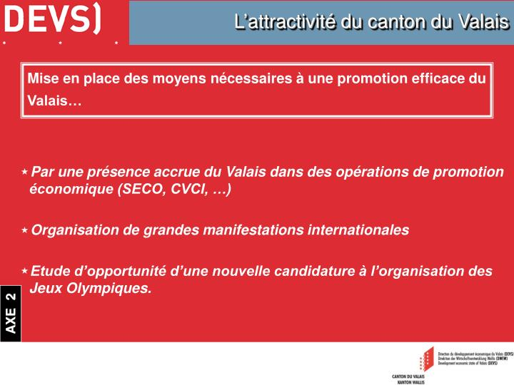 L'attractivité du canton du Valais