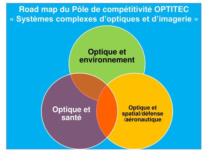 Road map du Pôle de compétitivité OPTITEC
