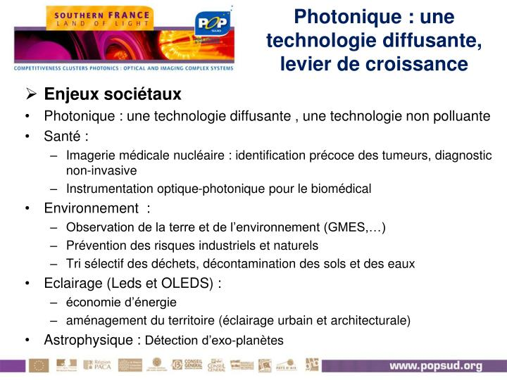 Photonique : une technologie diffusante, levier de croissance