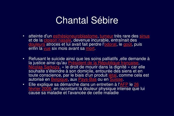 Chantal Sébire