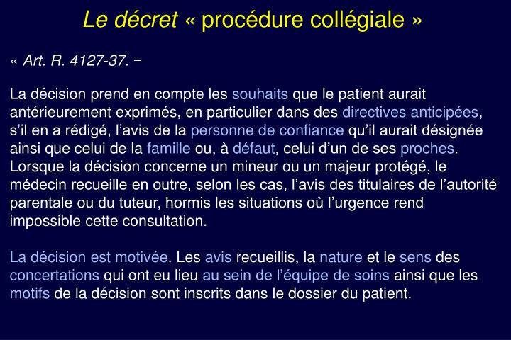 Le décret «