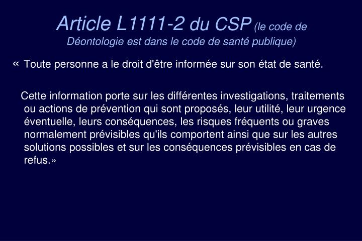 Article L1111-2