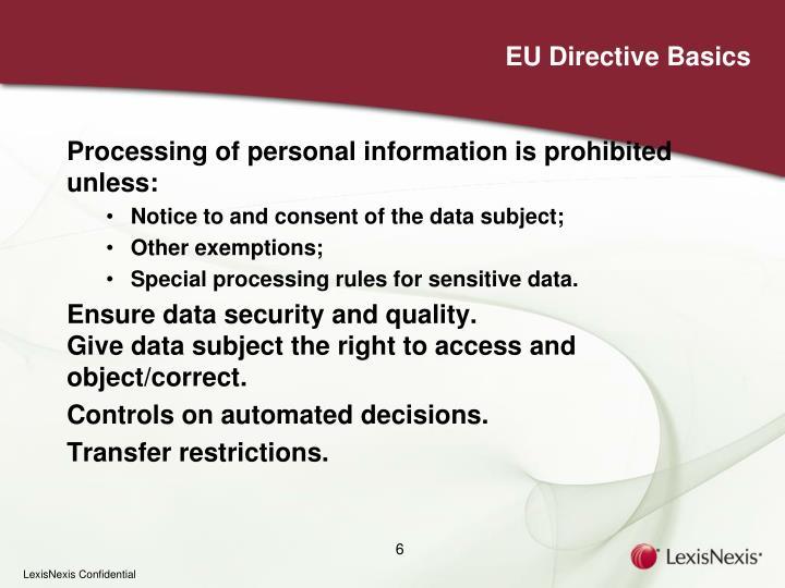 EU Directive Basics