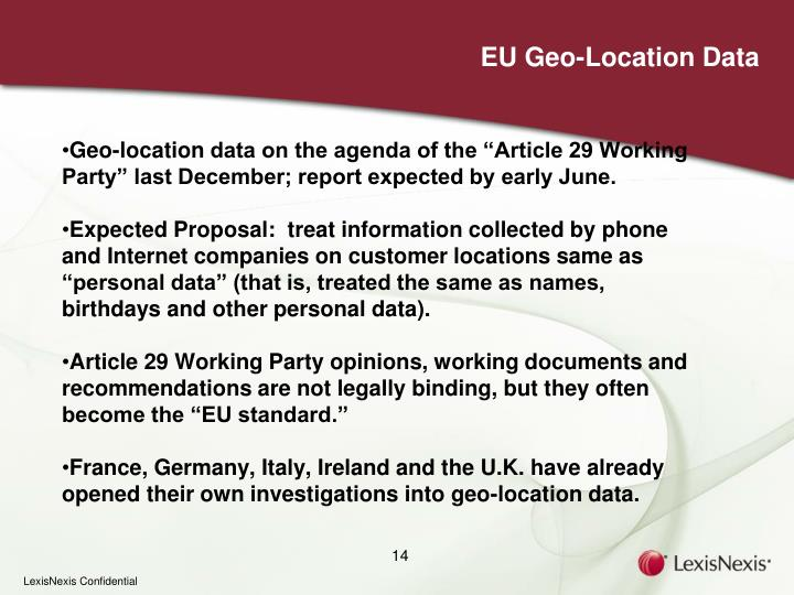 EU Geo-Location Data