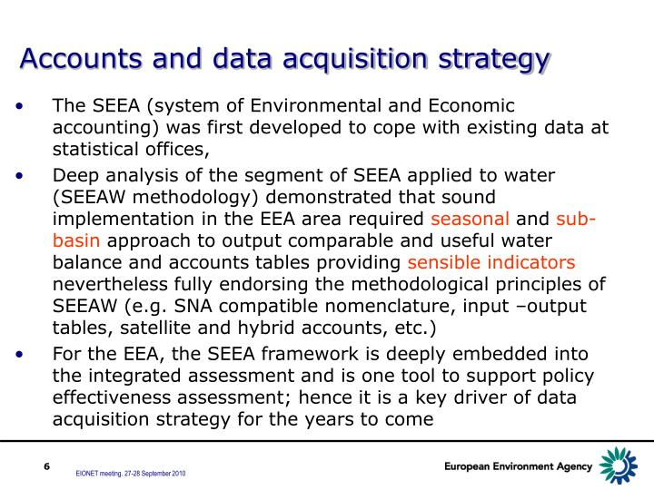 Accounts and data acquisition strategy