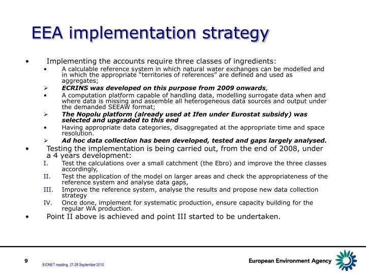 EEA implementation strategy