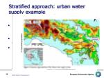 stratified approach urban water supply example