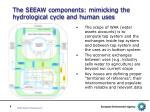 the seeaw components mimicking the hydrological cycle and human uses1