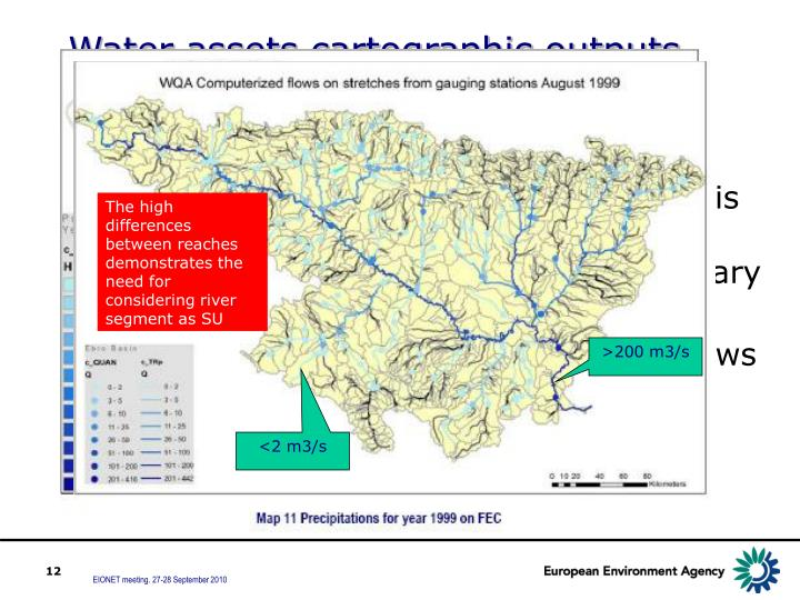 The high differences between reaches demonstrates the need for considering river segment as SU