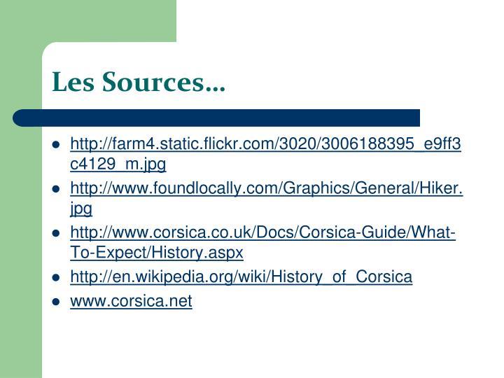 Les Sources…