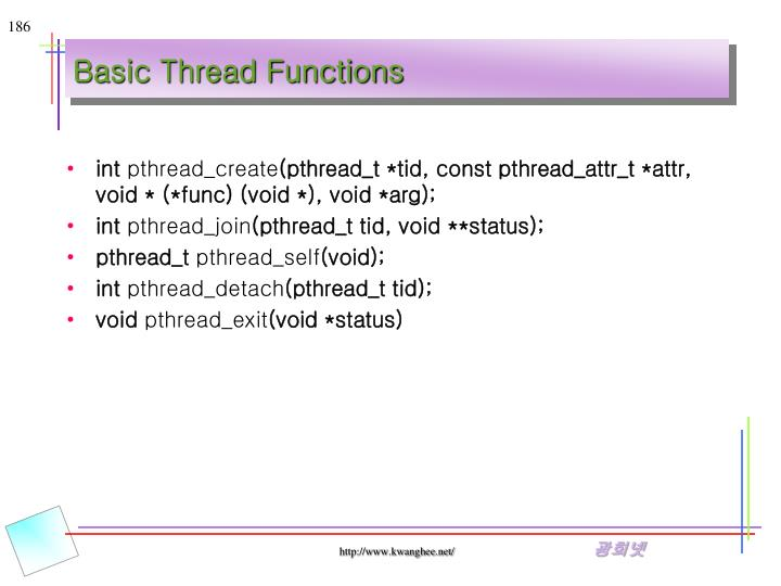 Basic Thread Functions