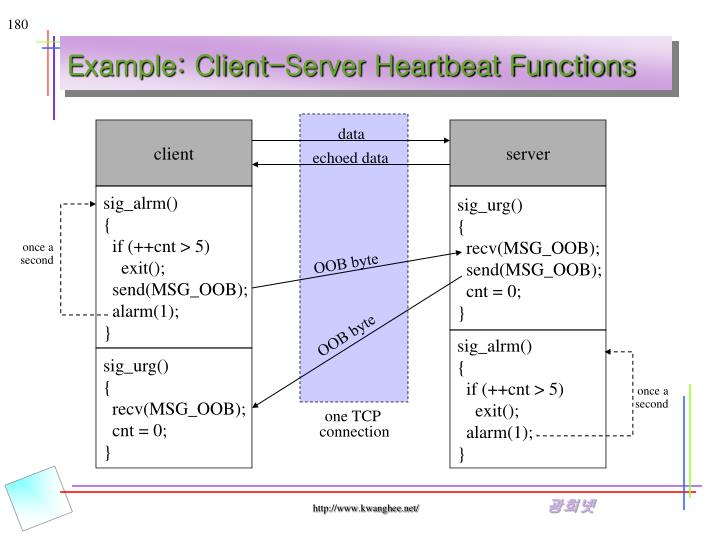 Example: Client-Server Heartbeat Functions