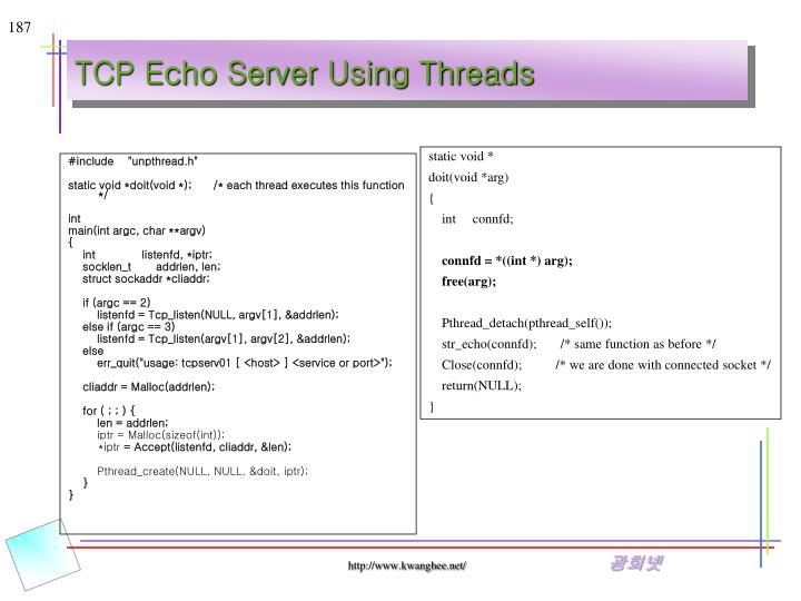 TCP Echo Server Using Threads