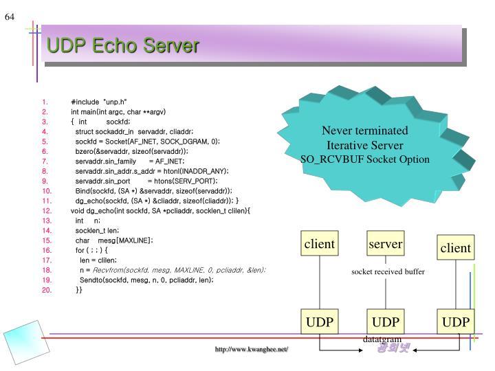 UDP Echo Server