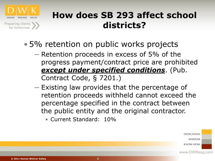 How does sb 293 affect school districts
