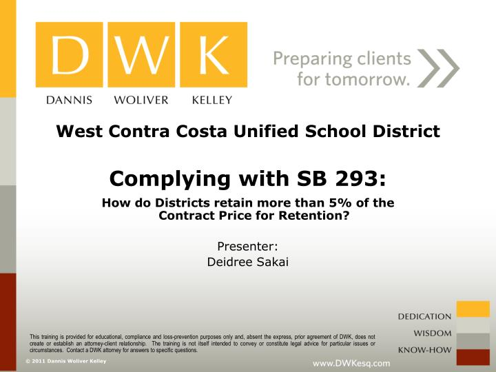 West contra costa unified school district complying with sb 293