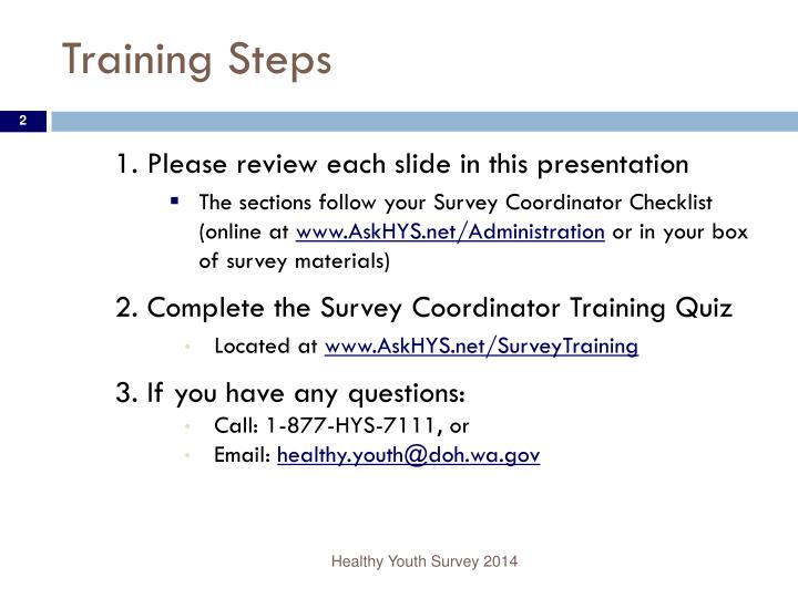 Training Steps