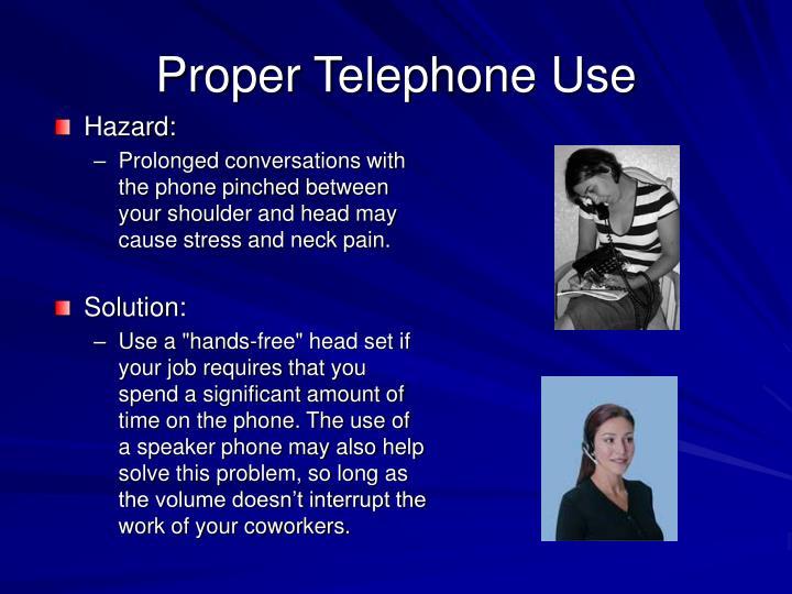 Proper Telephone Use