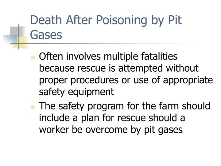 Death After Poisoning by Pit Gases