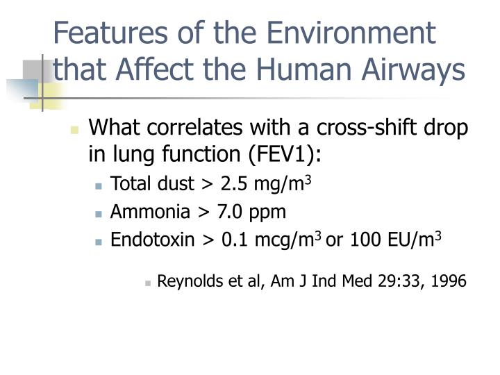 Features of the Environment that Affect the Human Airways